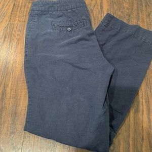 J crew cotton linen pants